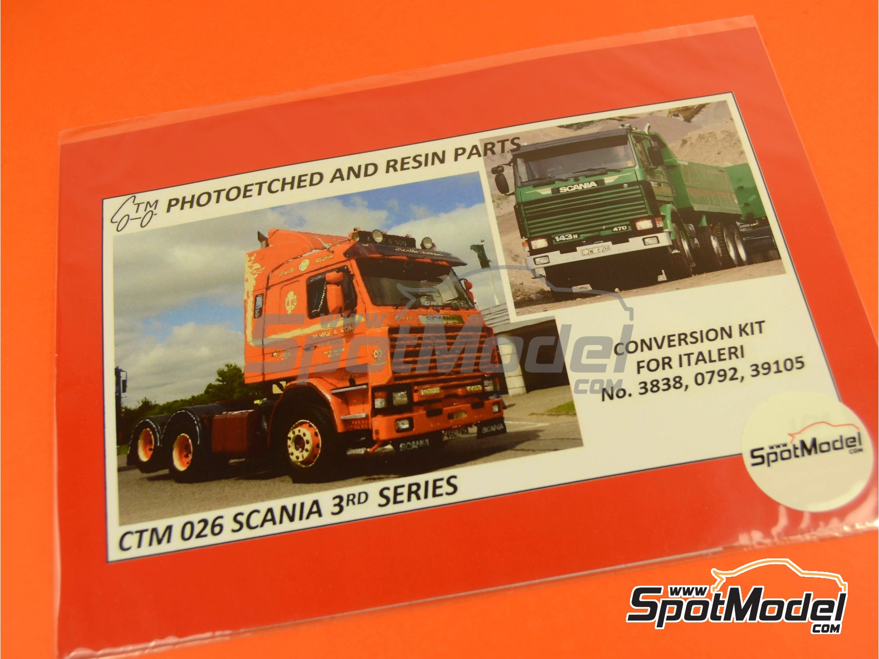 Image 1: Scania 143M   Detail up set in 1/24 scale manufactured by Czech Truck Model (ref.CTM026)