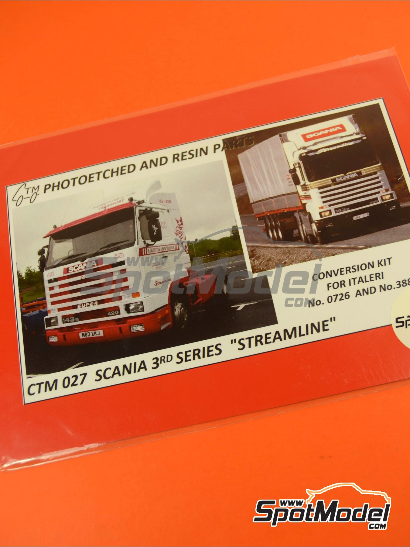 Scania 143R Streamline | Photo-etched parts in 1/24 scale manufactured by Czech Truck Model (ref. CTM027) image