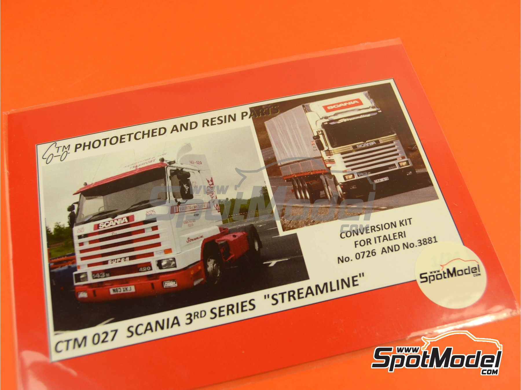 Image 4: Scania 143R Streamline | Photo-etched parts in 1/24 scale manufactured by Czech Truck Model (ref. CTM027)