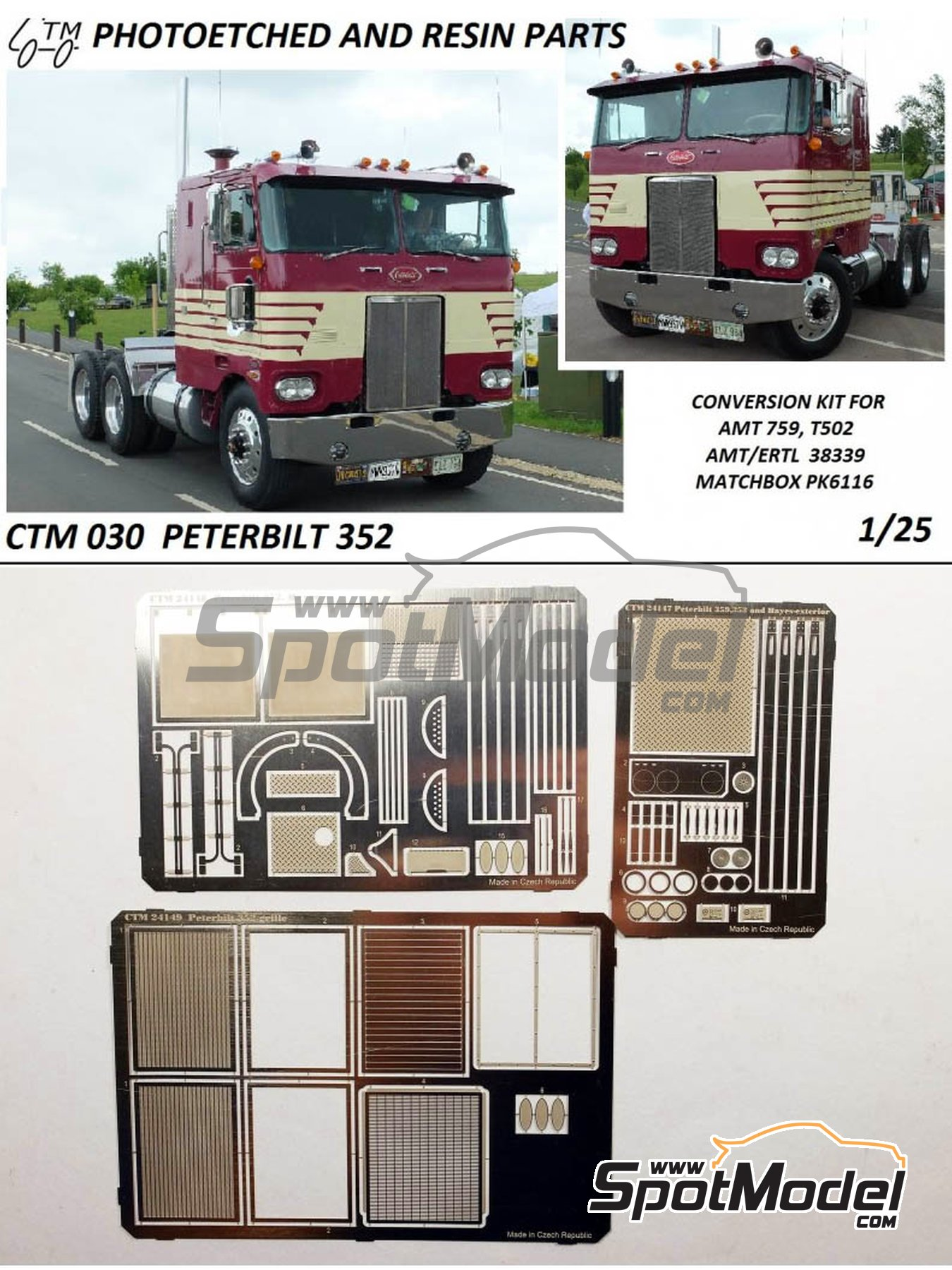 Peterbilt 352 | Detail up set in 1/25 scale manufactured by Czech Truck Model (ref.CTM030) image