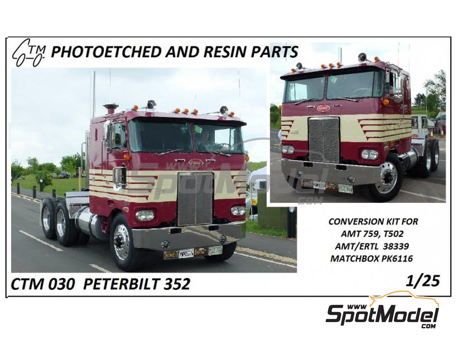 Image 1: Peterbilt 352 | Set de mejora y detallado en escala1/25 fabricado por Czech Truck Model (ref.CTM030)