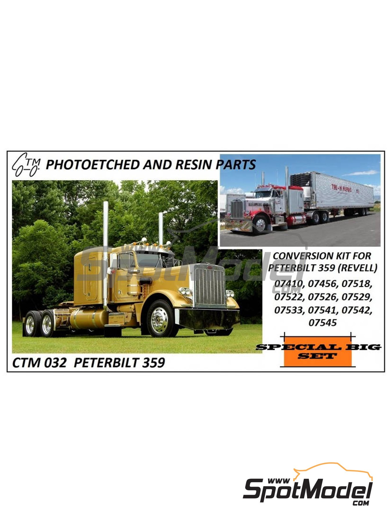 Peterbilt 359 Conventional | Detail up set in 1/25 scale manufactured by Czech Truck Model (ref.CTM032) image