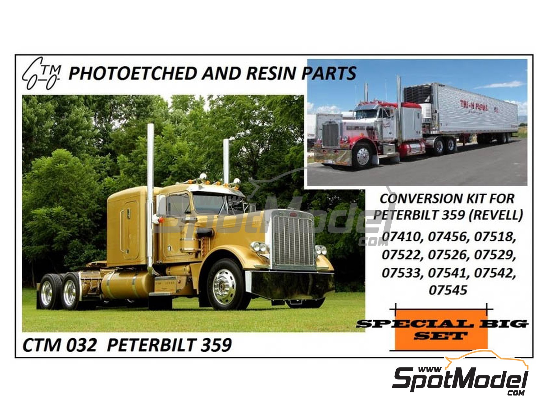Image 8: Peterbilt 359 Conventional | Detail up set in 1/25 scale manufactured by Czech Truck Model (ref.CTM032)