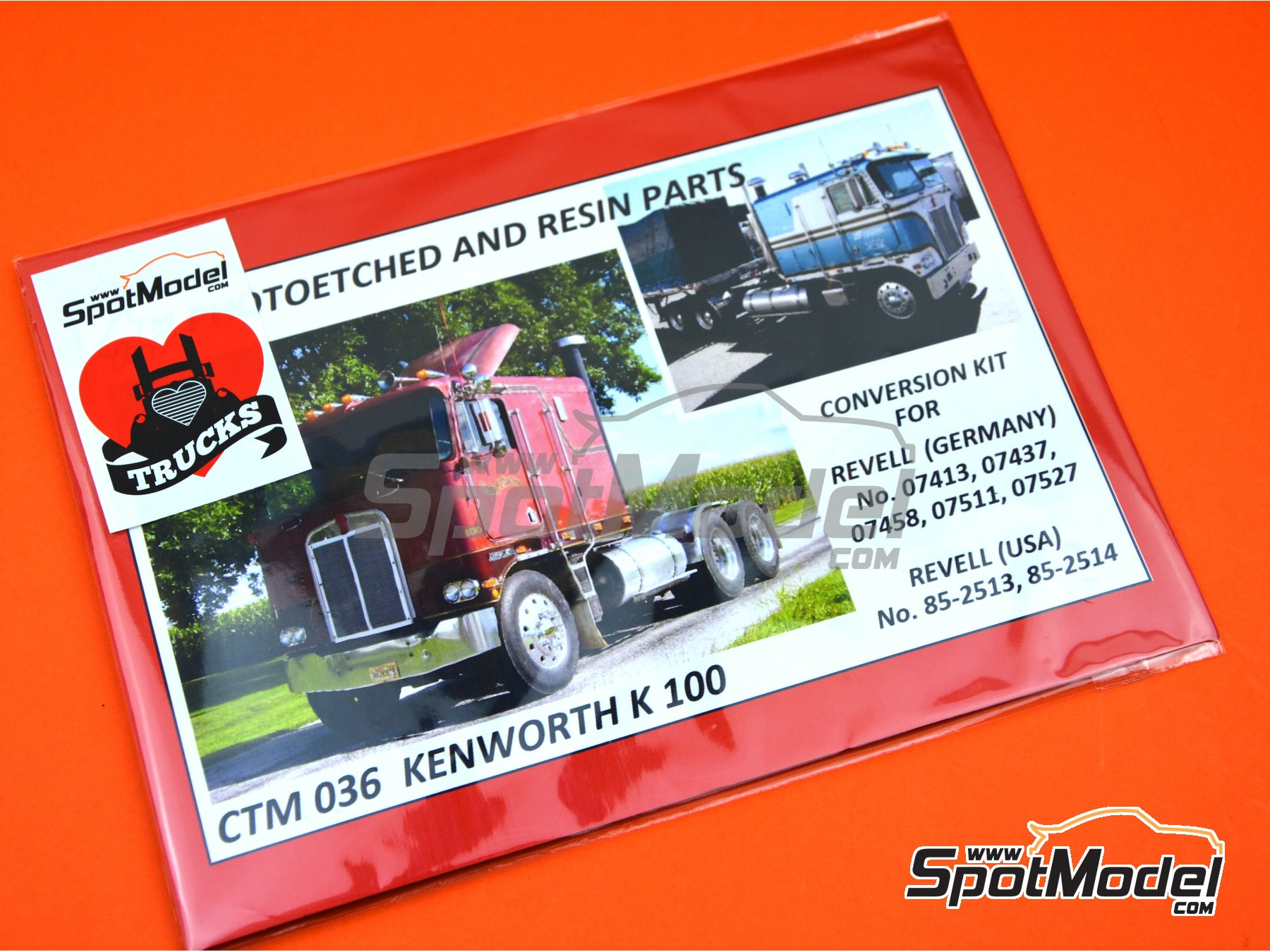 Image 7: Kenworth K-100 Aerodyne | Detail up set in 1/25 scale manufactured by Czech Truck Model (ref. CTM036)