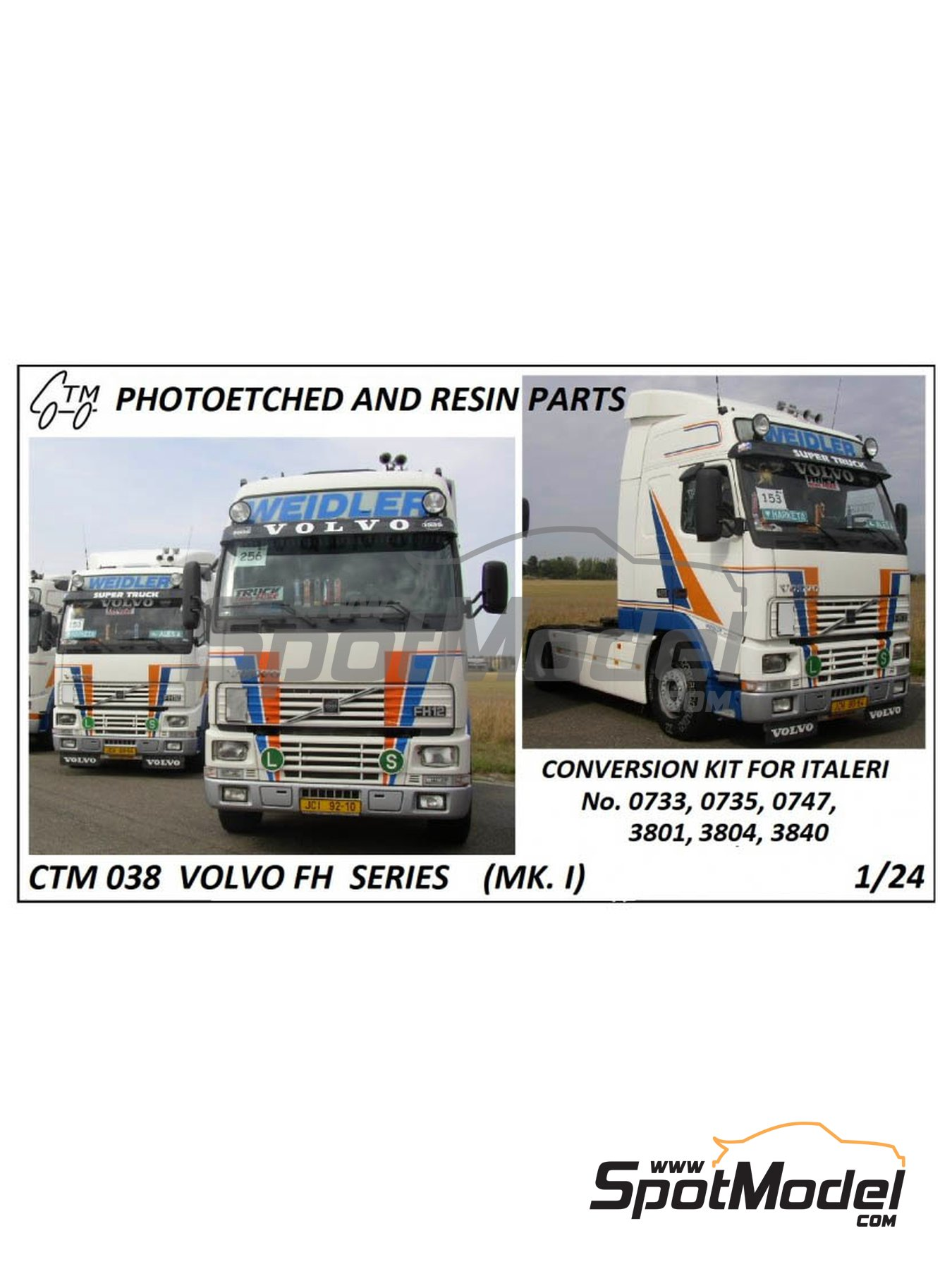 Volvo FH12 / FH16 | Detail up set in 1/24 scale manufactured by Czech Truck Model (ref. CTM038) image