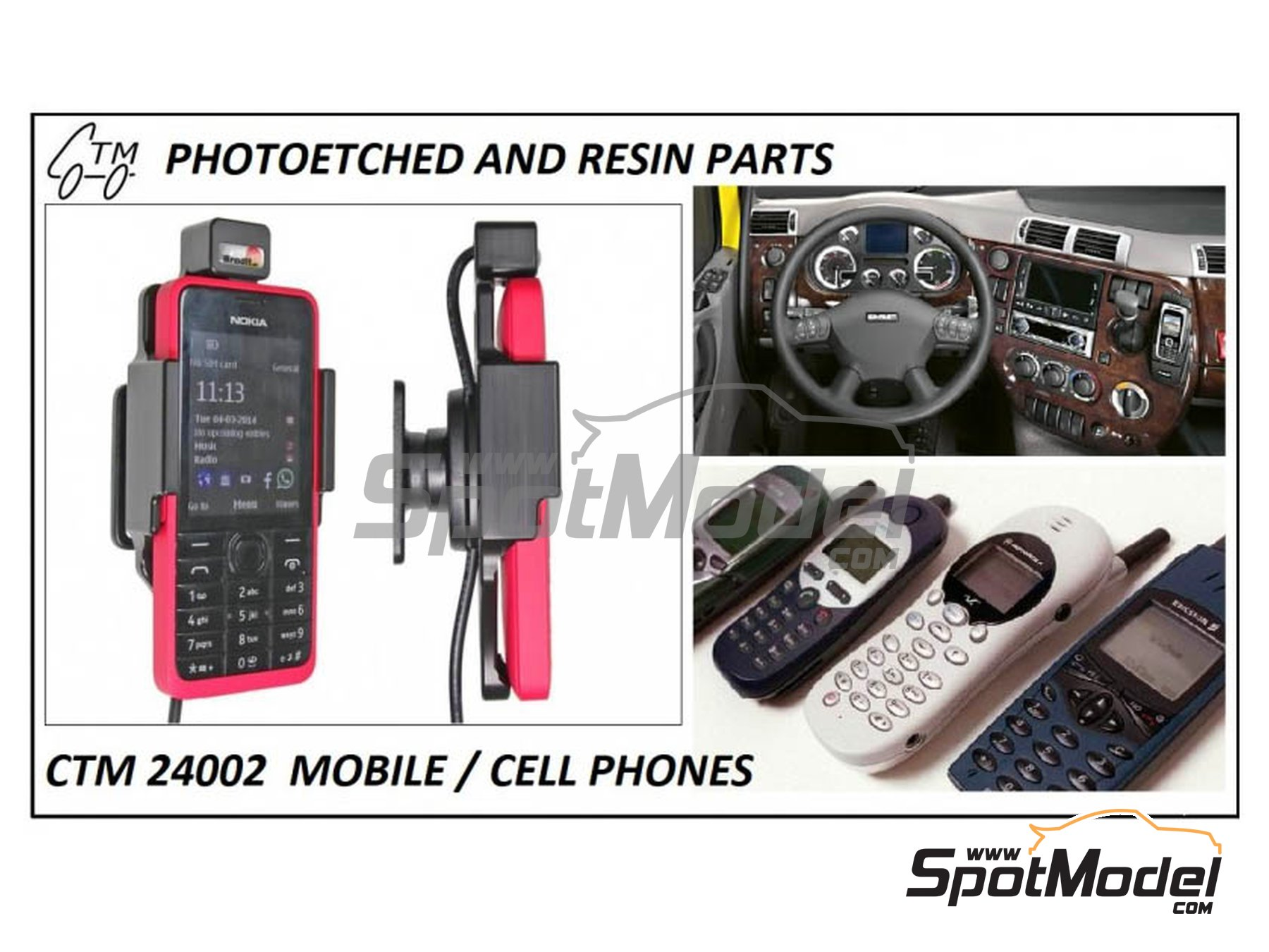 Image 2: Cell phones | Detail in 1/24 scale manufactured by Czech Truck Model (ref.CTM24002)
