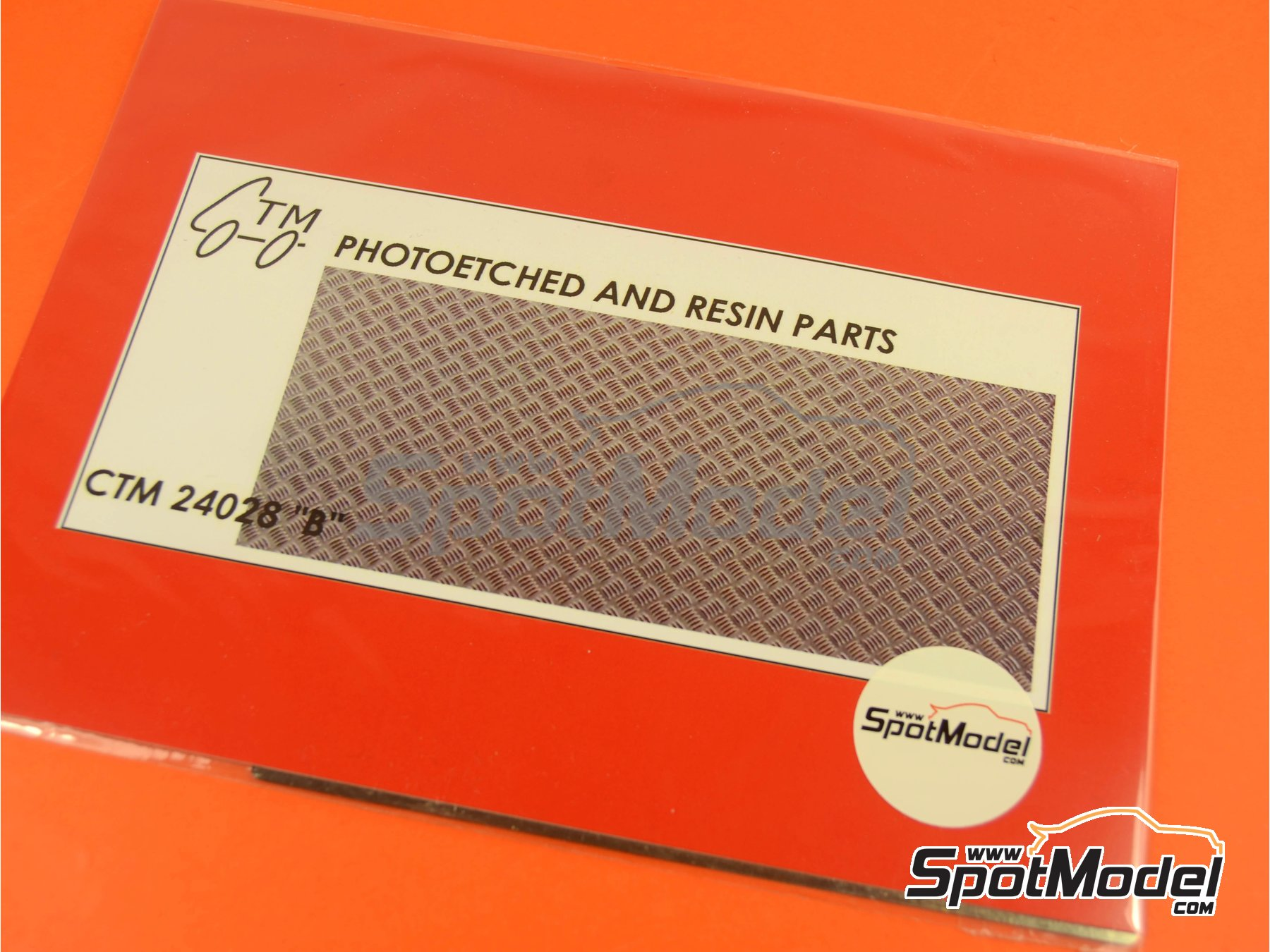 Image 2: Anti-slip plate | Engraved plate in 1/24 scale manufactured by Czech Truck Model (ref.CTM24028)