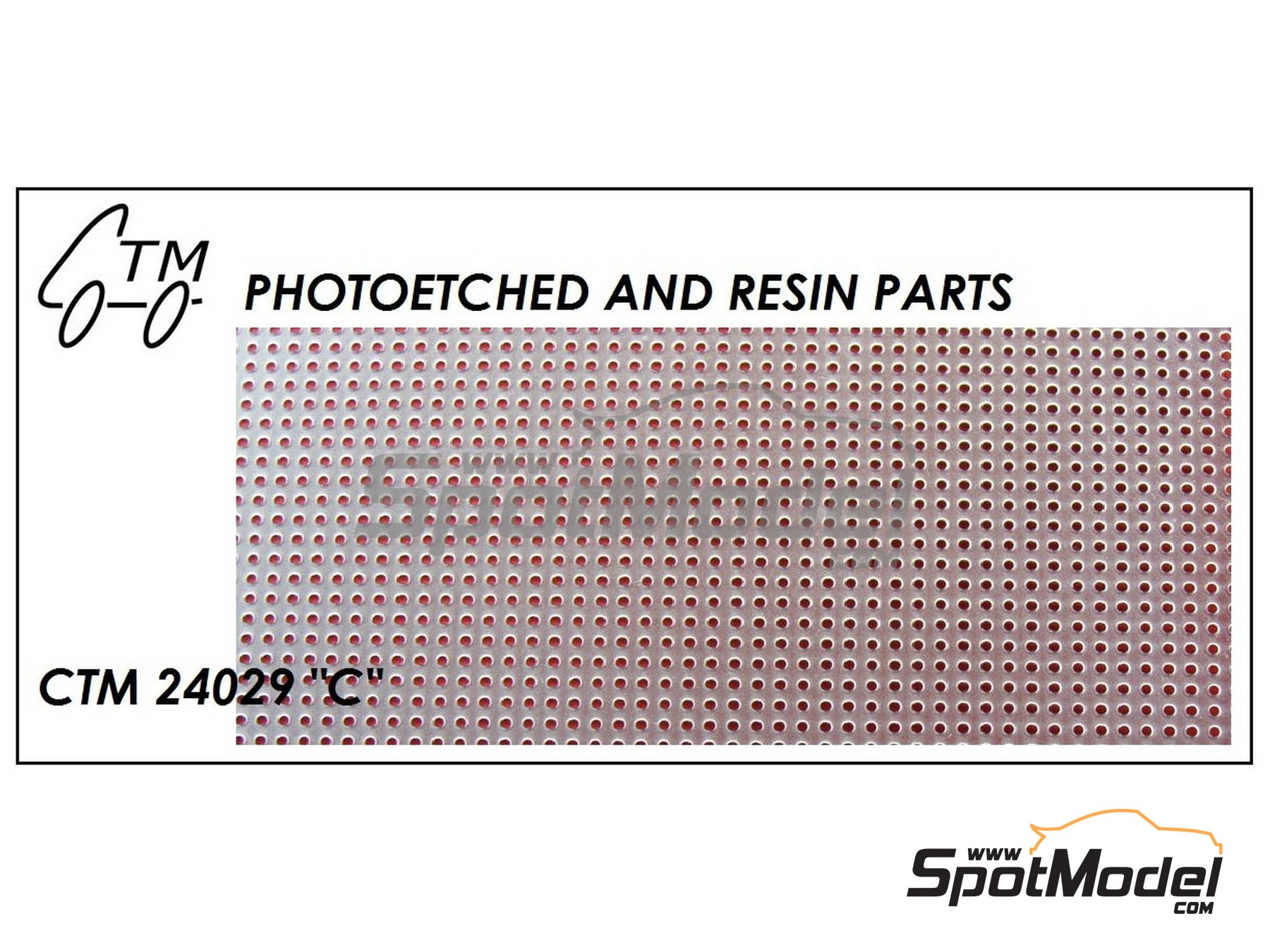 Image 1: Drilled plate | Mesh in 1/24 scale manufactured by Czech Truck Model (ref.CTM24029)