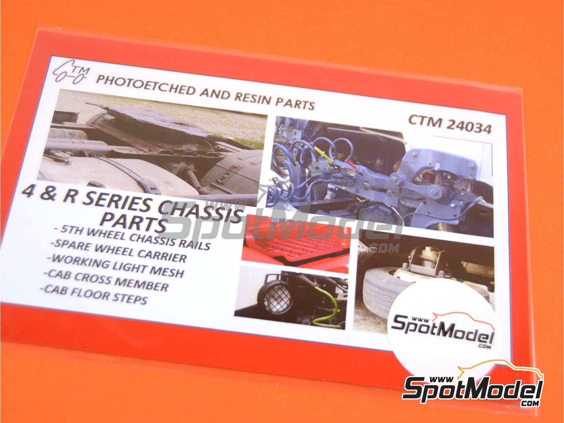 Image 4: Scania 4 series and R series | Detail up set in 1/24 scale manufactured by Czech Truck Model (ref. CTM24034)