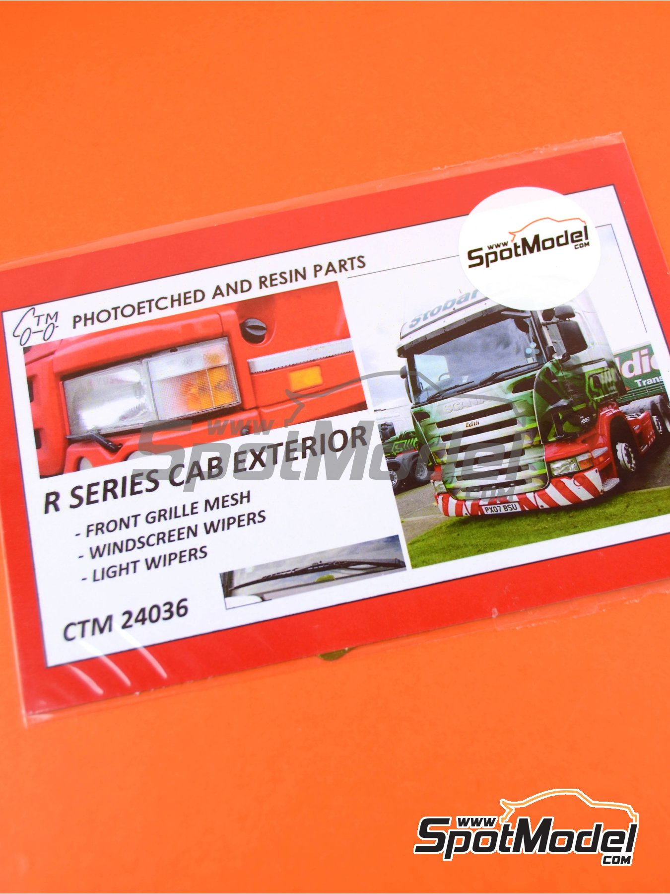 Scania R series | Photo-etched parts in 1/24 scale manufactured by Czech Truck Model (ref.CTM24036) image