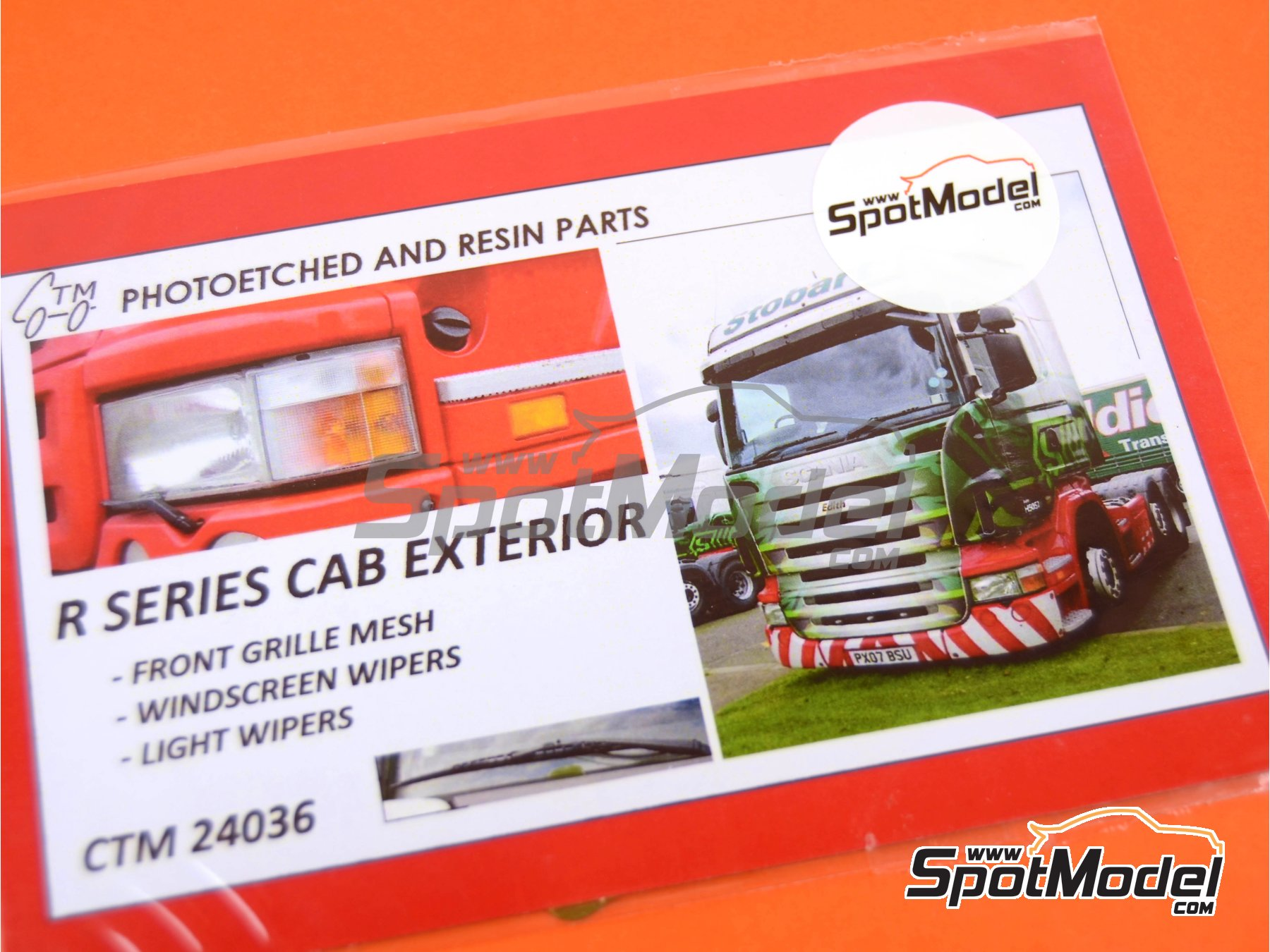 Image 3: Scania R series | Photo-etched parts in 1/24 scale manufactured by Czech Truck Model (ref.CTM24036)