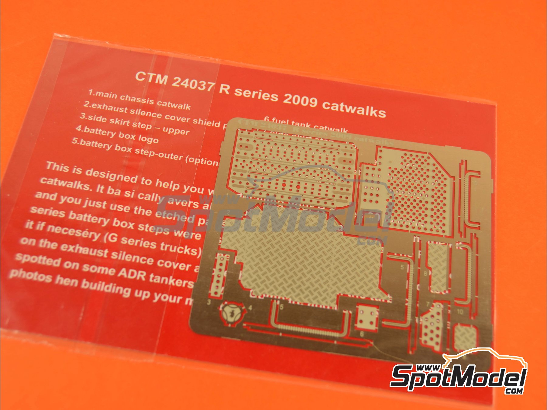 Image 3: Scania R series -  2009   Catwalks in 1/24 scale manufactured by Czech Truck Model (ref.CTM24037)
