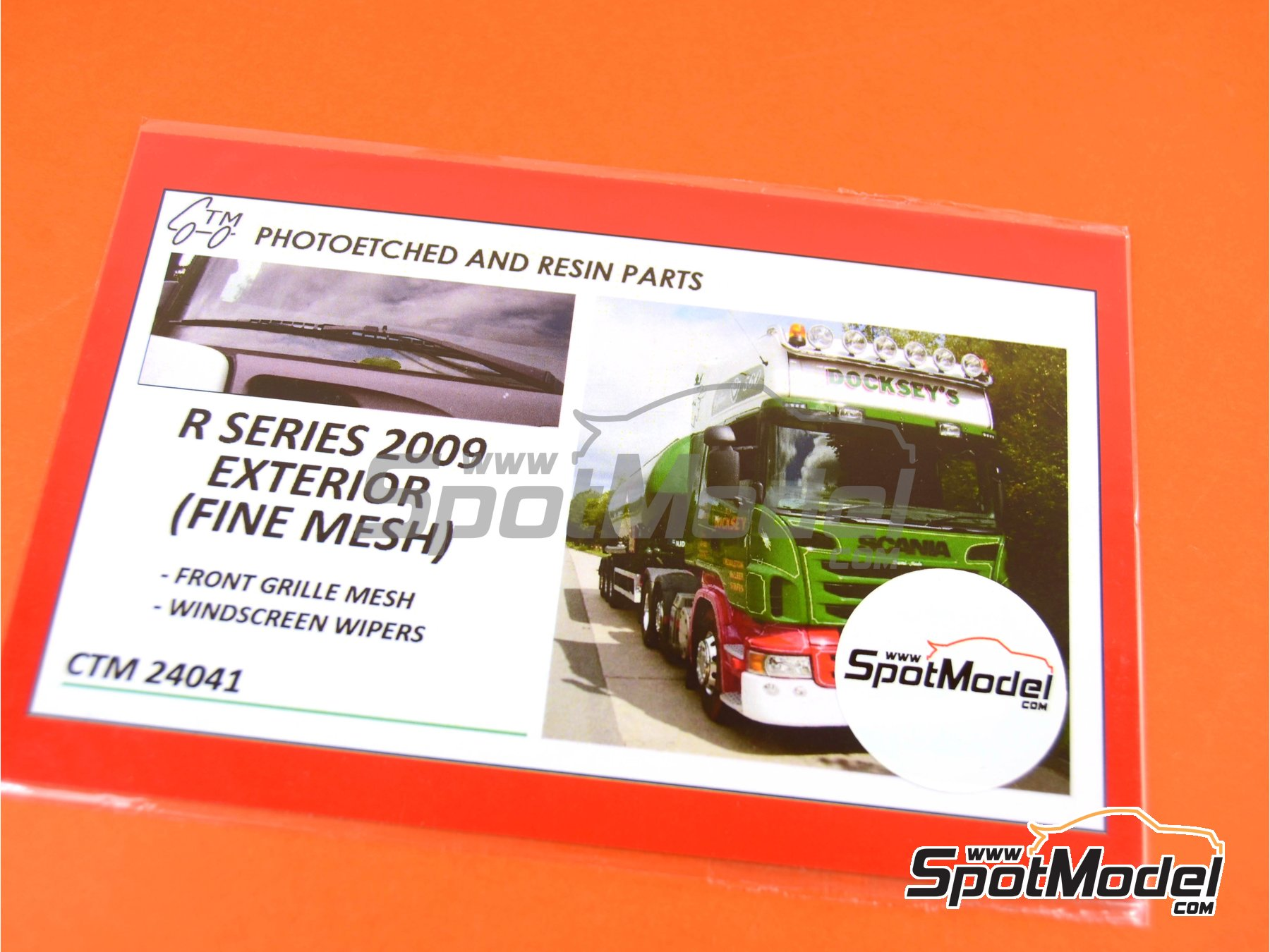 Image 4: Scania R series -  2009 | Photo-etched parts in 1/24 scale manufactured by Czech Truck Model (ref.CTM24041)