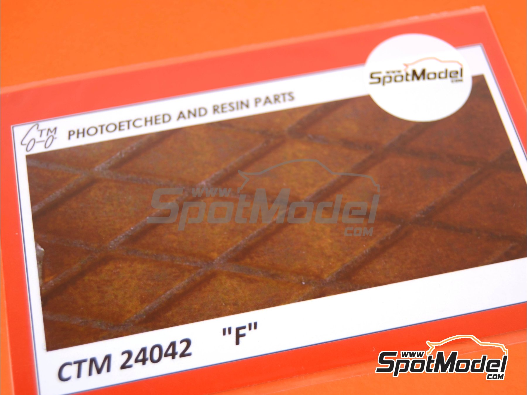 Image 1: Plancha con textura de rombos | Chapa texturizada en escala1/24 fabricado por Czech Truck Model (ref.CTM24042)