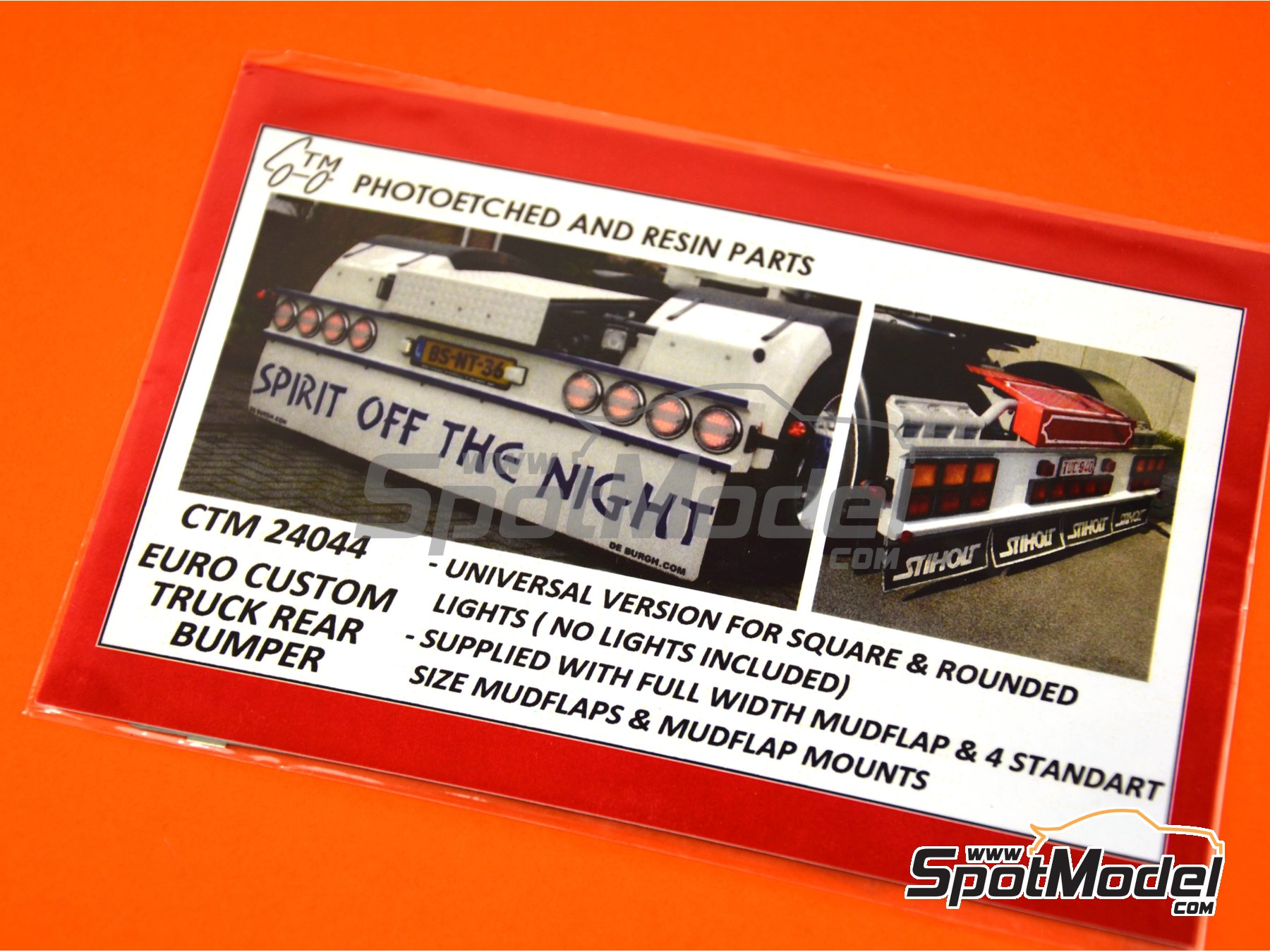 Image 4: Euro custom truck rear bumper | Detail up set in 1/24 scale manufactured by Czech Truck Model (ref. CTM24044)