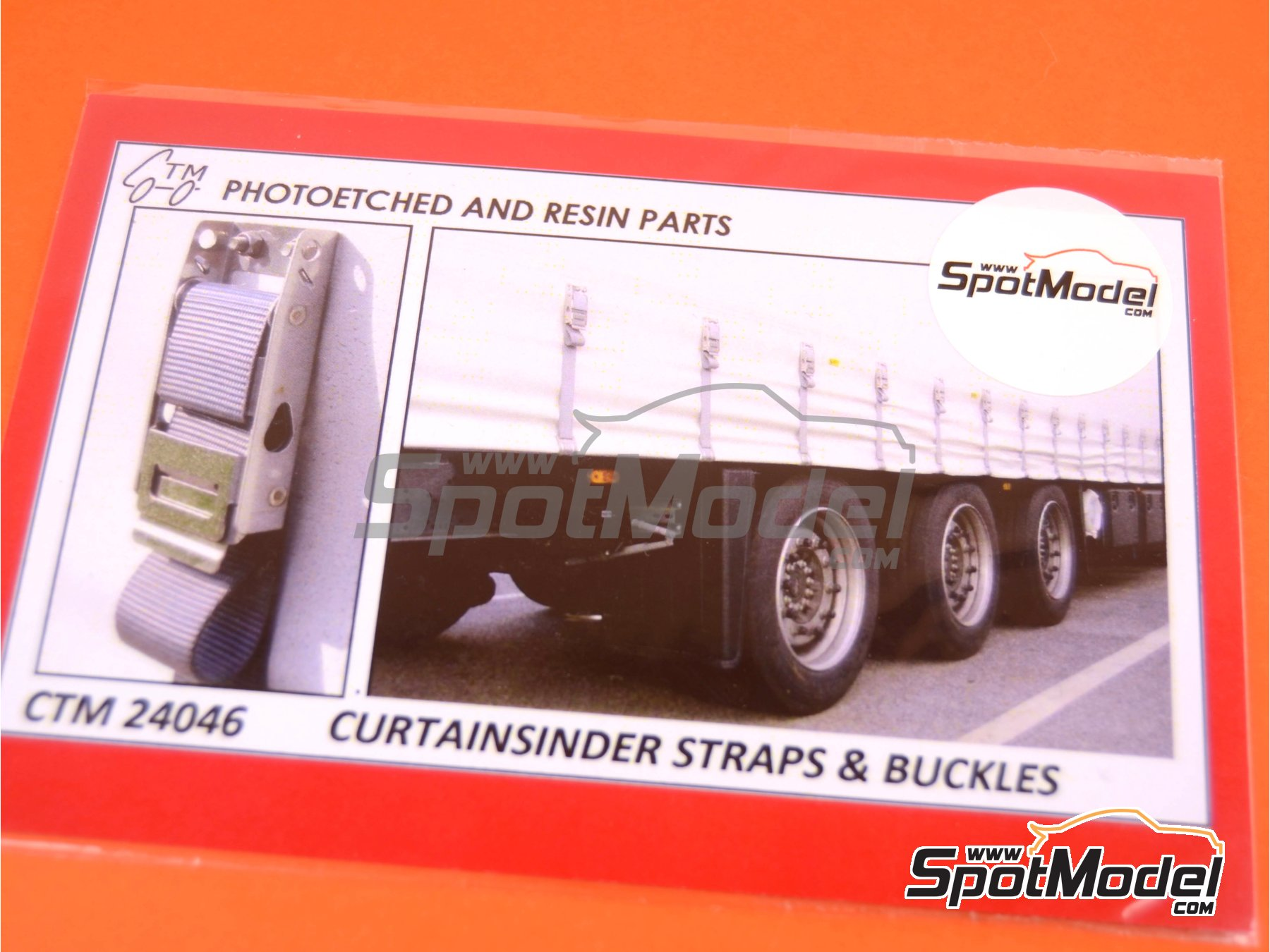 Image 4: Curtainsider straps and buckles | Detail in 1/24 scale manufactured by Czech Truck Model (ref.CTM24046)