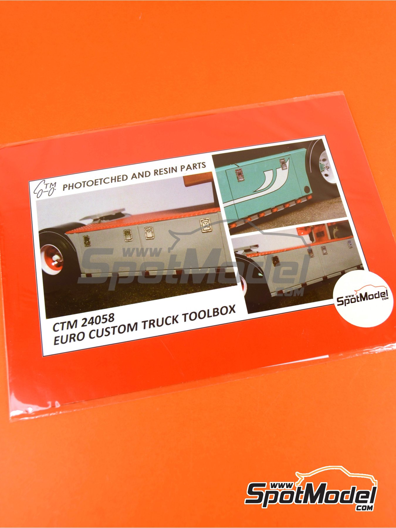 Euro custom truck toolbox | Detail in 1/24 scale manufactured by Czech Truck Model (ref. CTM24058) image