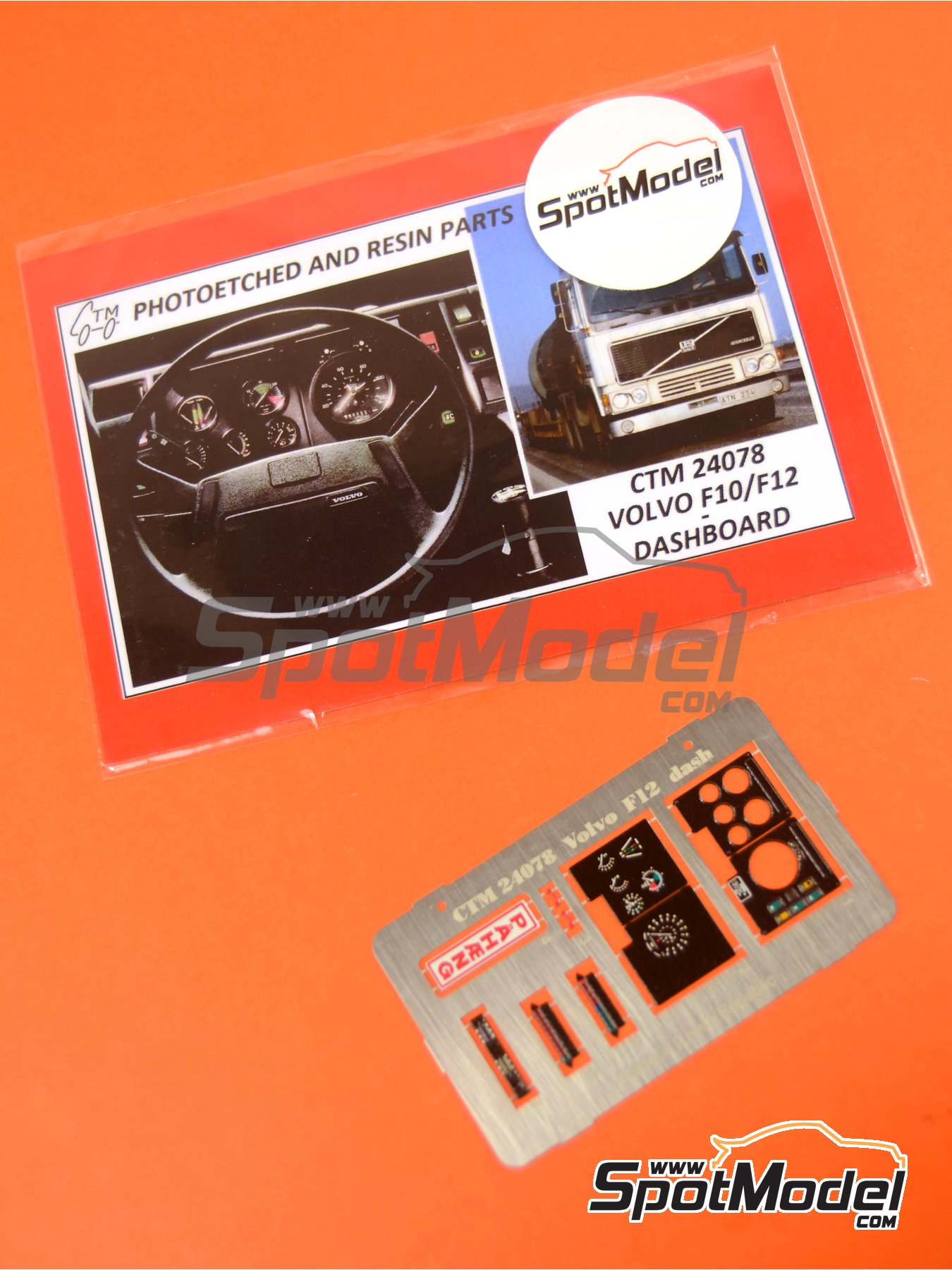 Volvo F10 and Volvo F12 | Dashboard in 1/24 scale manufactured by Czech Truck Model (ref.CTM24078) image