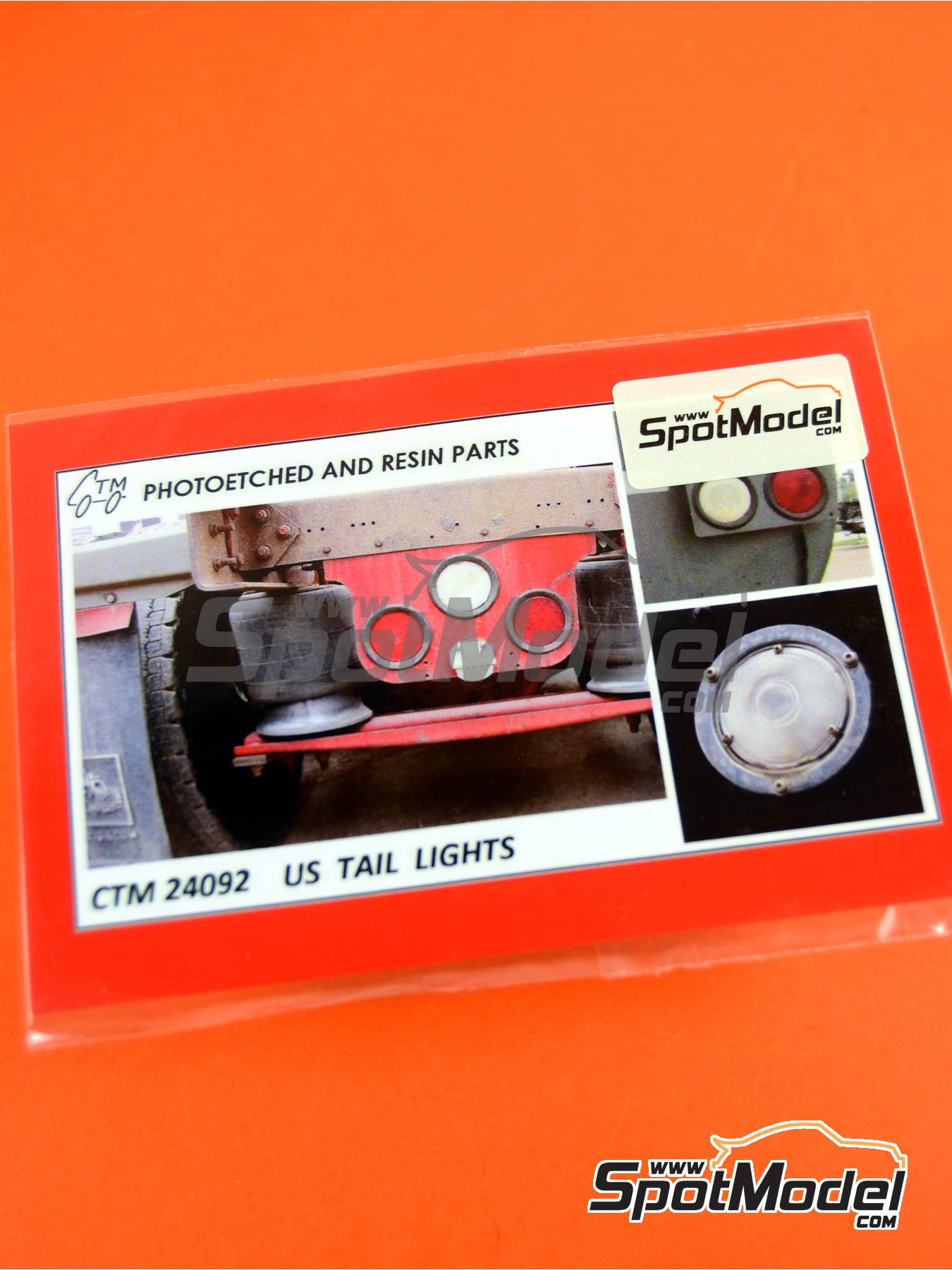 US tail lights | Lights in 1/25 scale manufactured by Czech Truck Model (ref. CTM24092) image