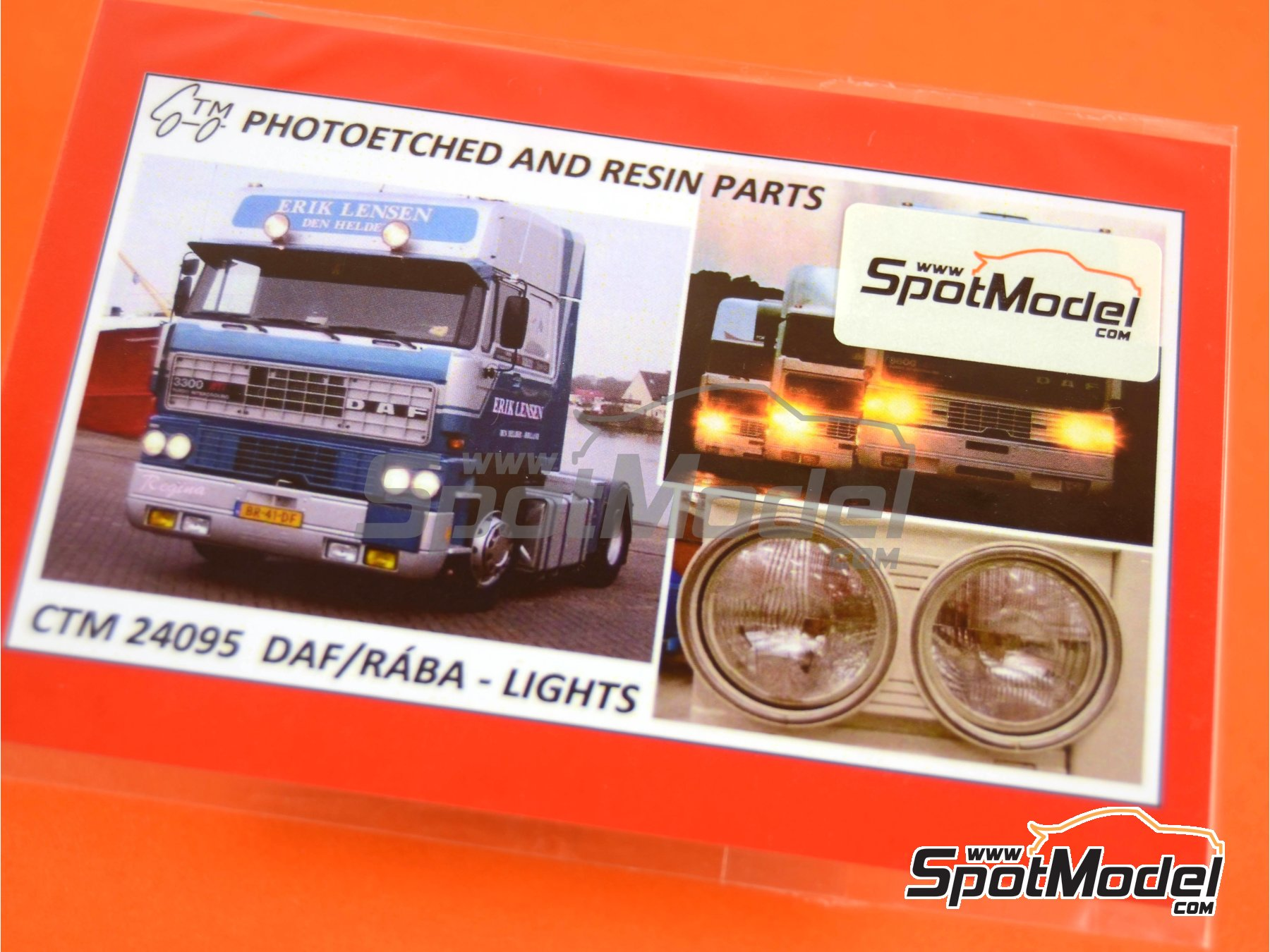Image 5: DAF and RÁBA | Lights in 1/24 scale manufactured by Czech Truck Model (ref. CTM24095)