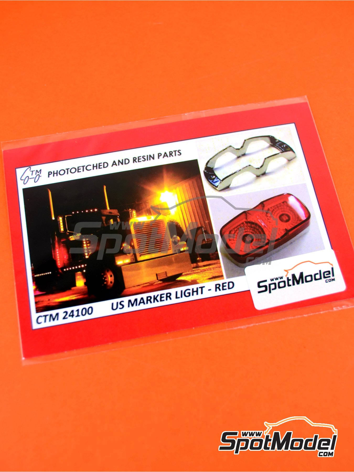 US marker lights red | Lights in 1/25 scale manufactured by Czech Truck Model (ref. CTM24100) image