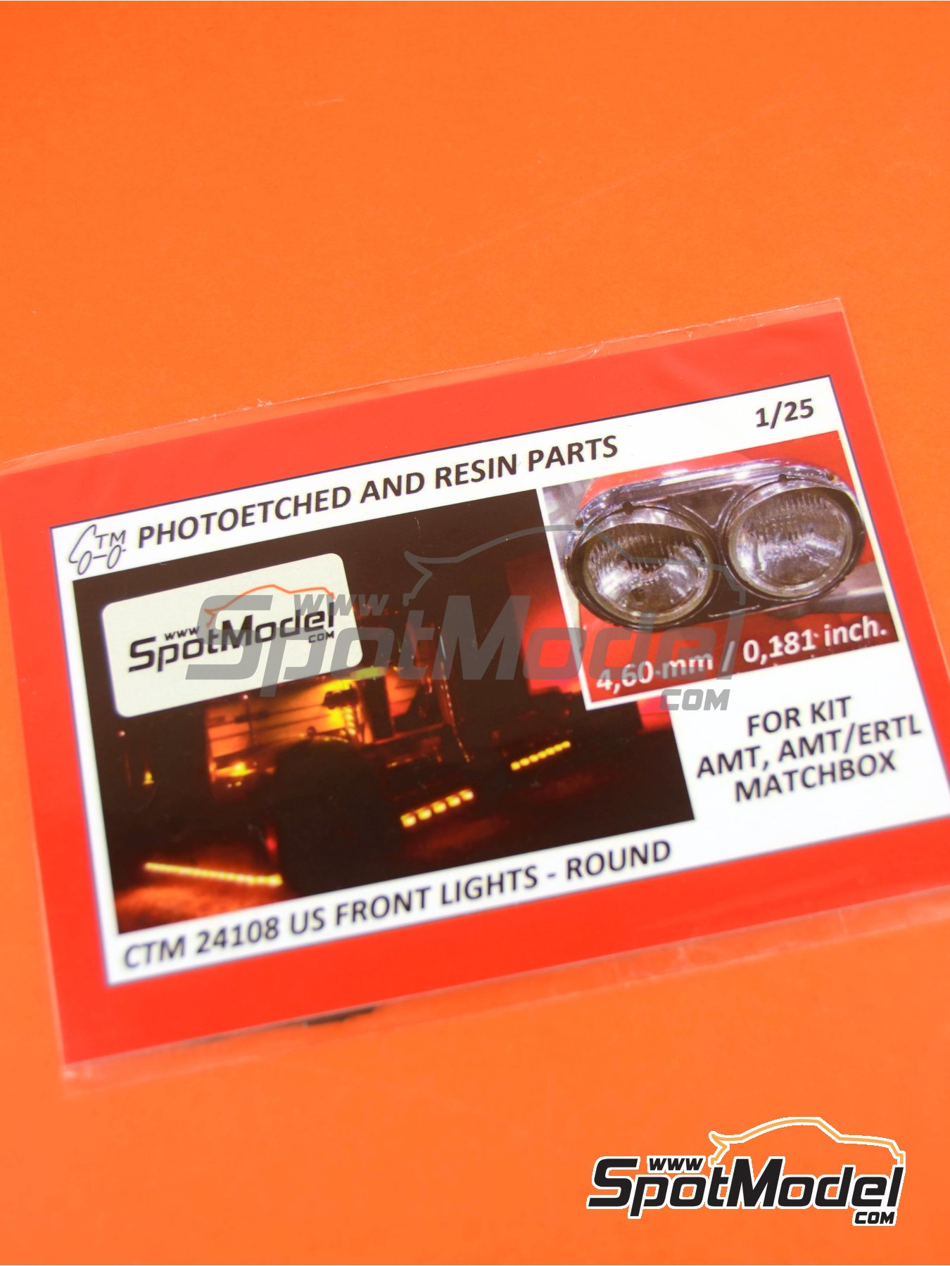 US front lights round | Lights in 1/25 scale manufactured by Czech Truck Model (ref. CTM24108) image