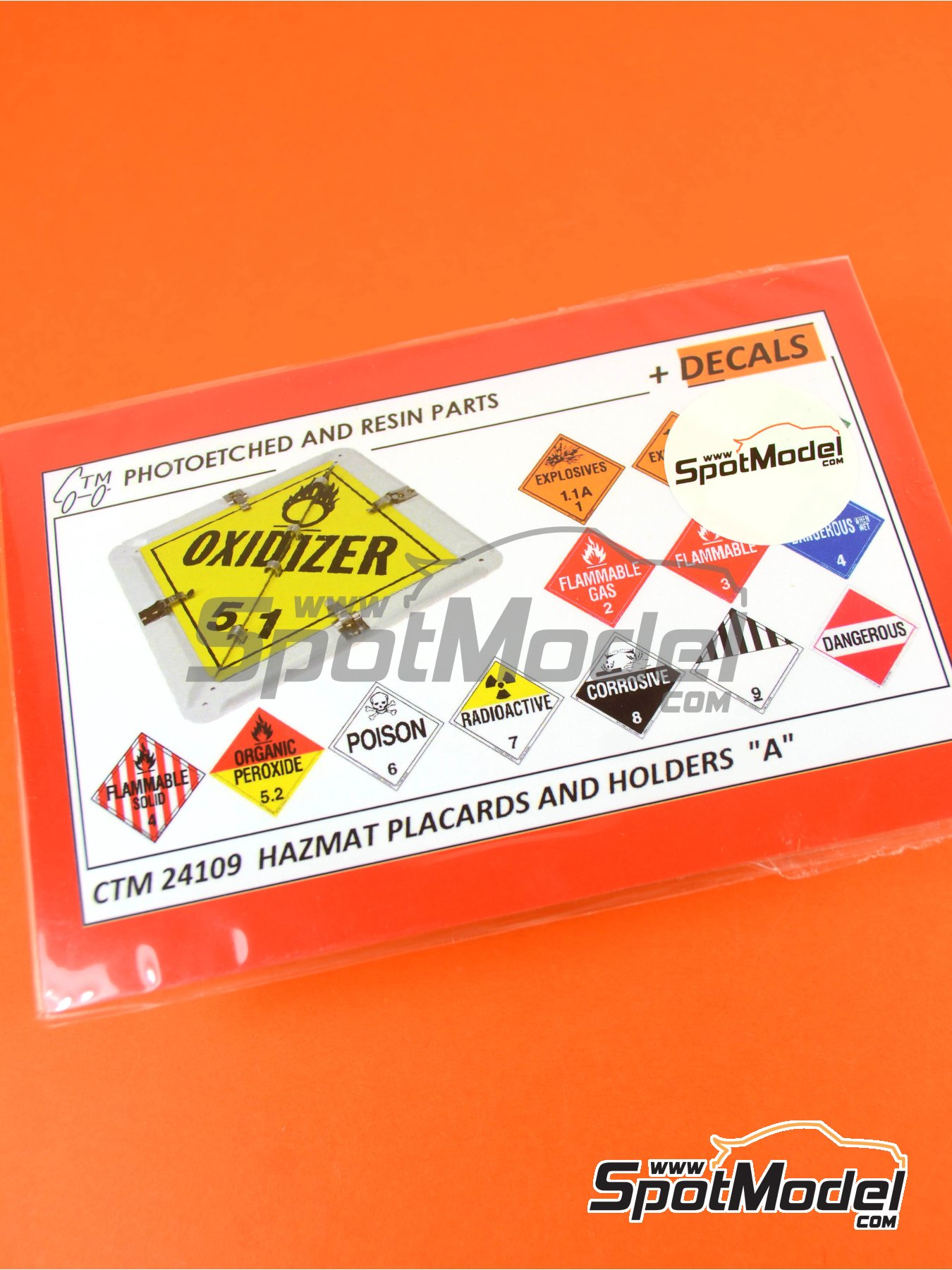 HAZMAT - Hazardous materials and items: holders and placards | Detail up set in 1/24 scale manufactured by Czech Truck Model (ref. CTM24109) image