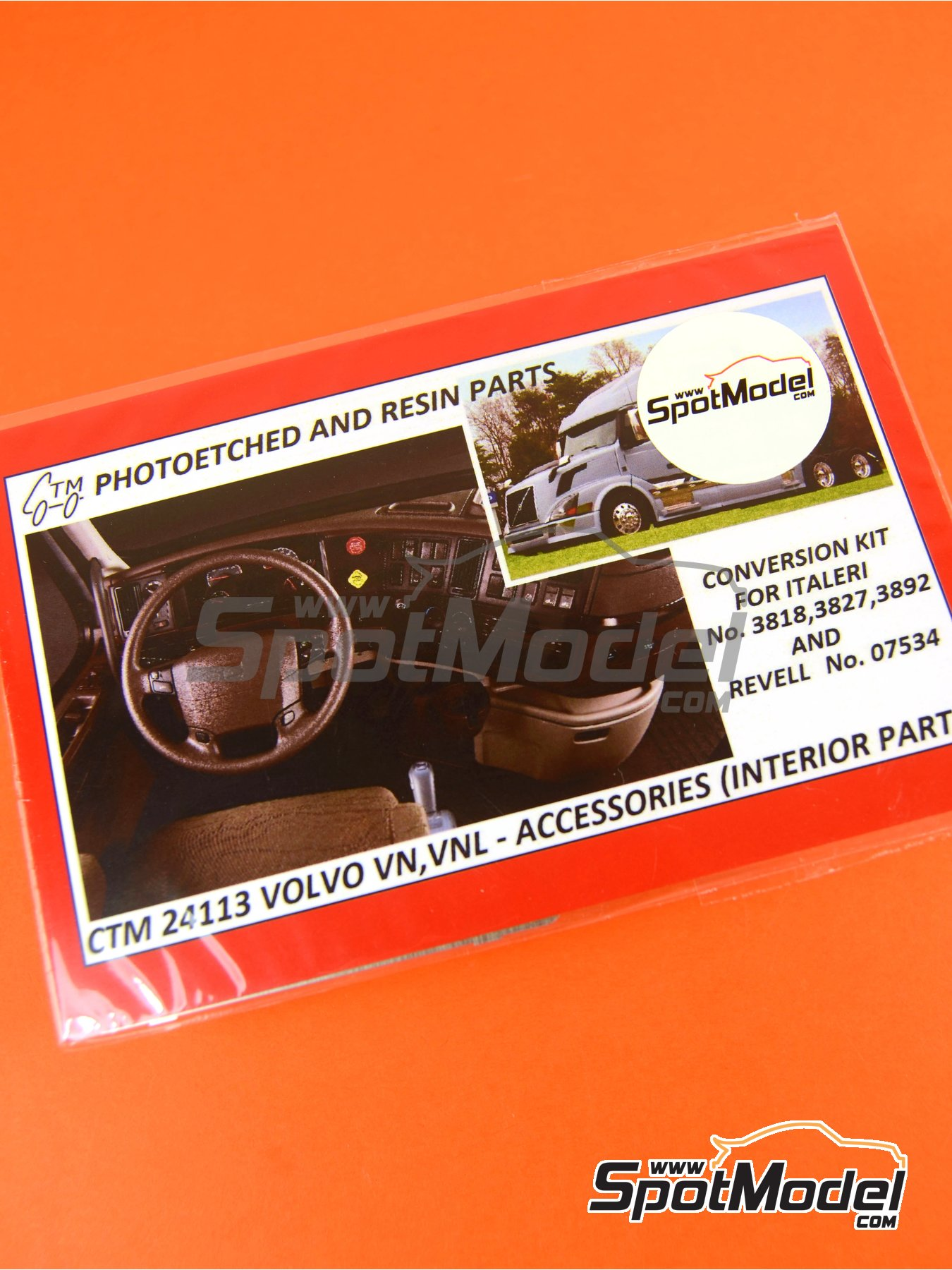 Volvo VN and VNL interior parts | Detail up set in 1/24 scale manufactured by Czech Truck Model (ref.CTM24113) image