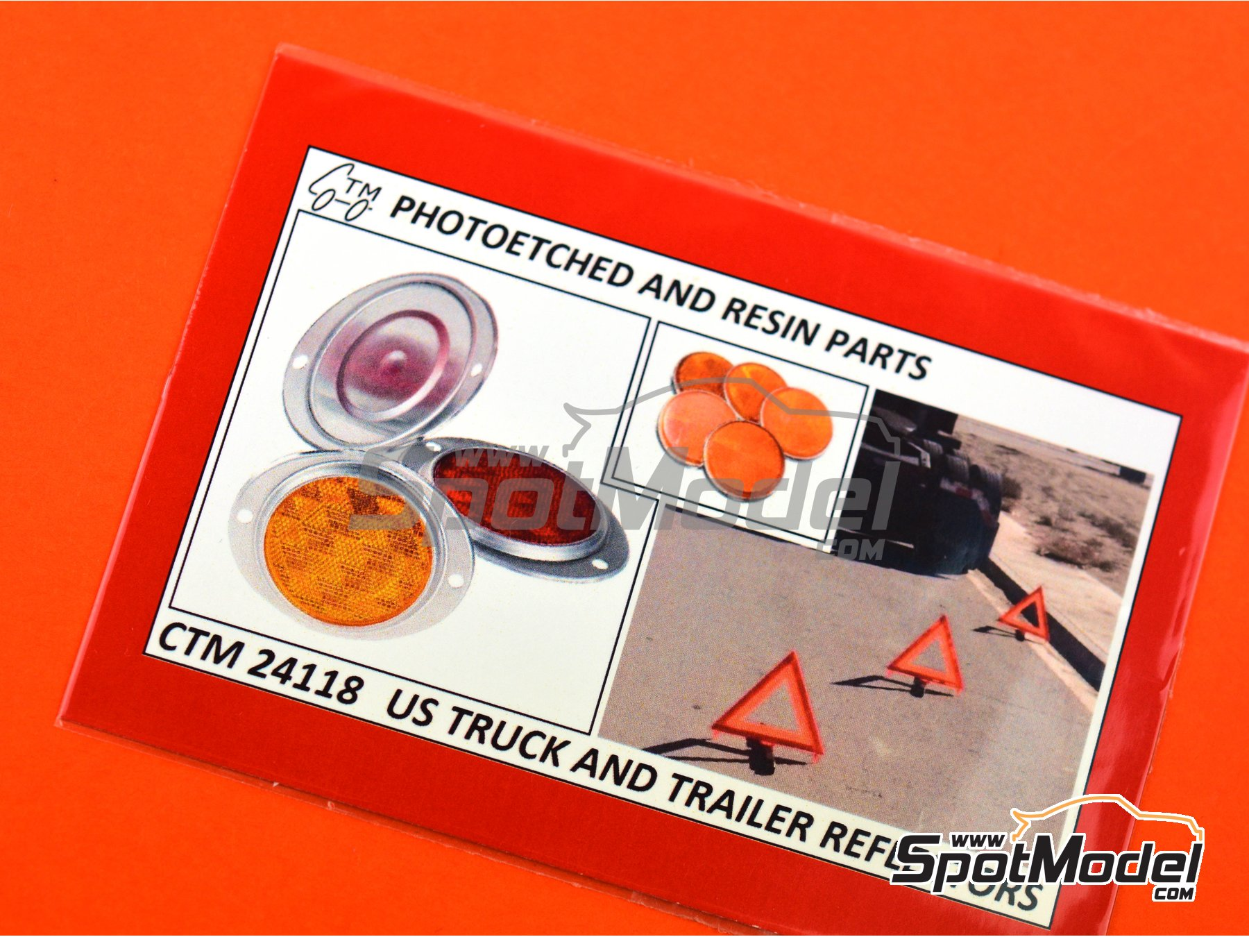 Image 3: US truck and trailer reflectors | Lights in 1/24 scale manufactured by Czech Truck Model (ref. CTM24118)