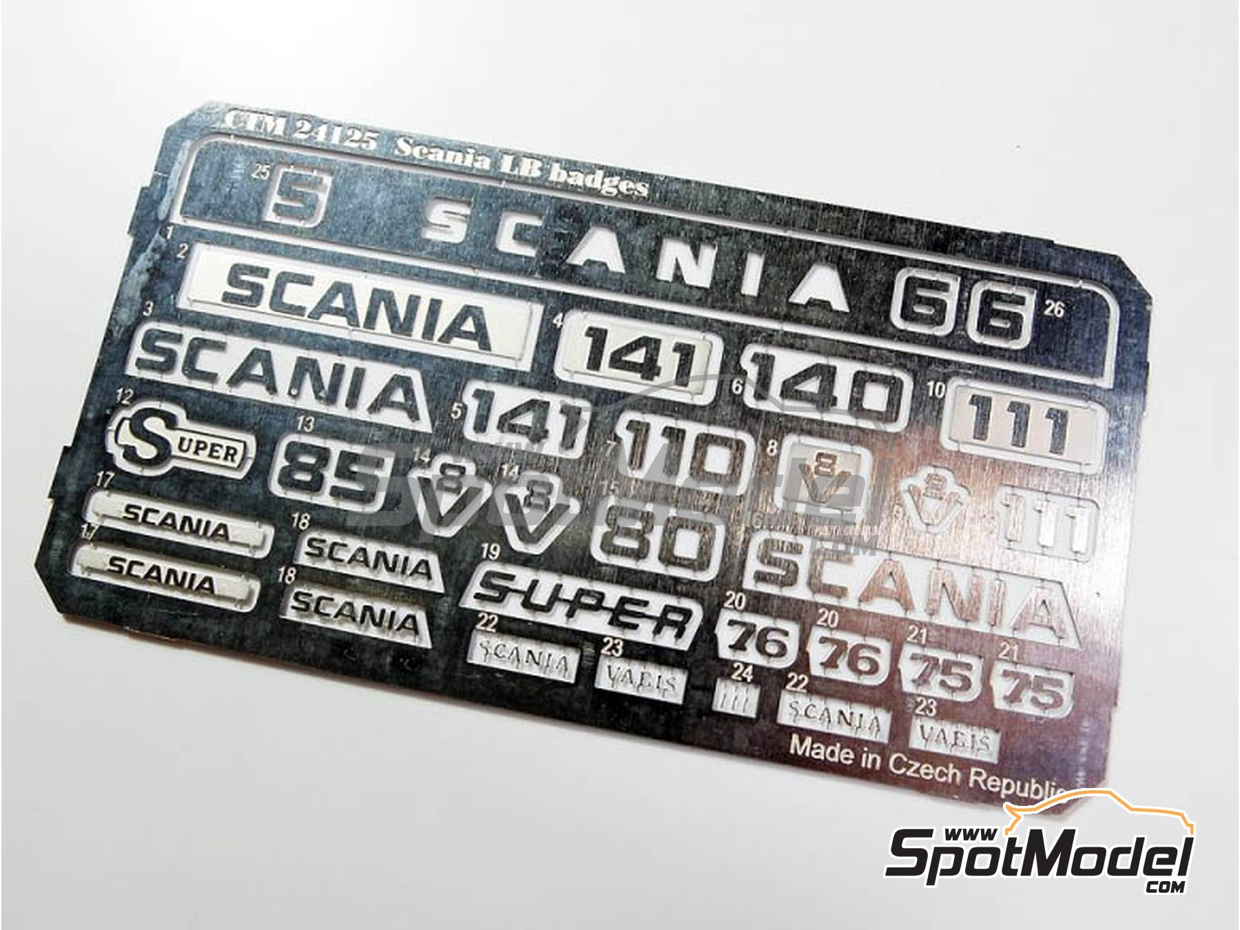 Image 2: Scania LB 110 / 140 / 141 | Badges in 1/24 scale manufactured by Czech Truck Model (ref.CTM24125, also CTM 24125)