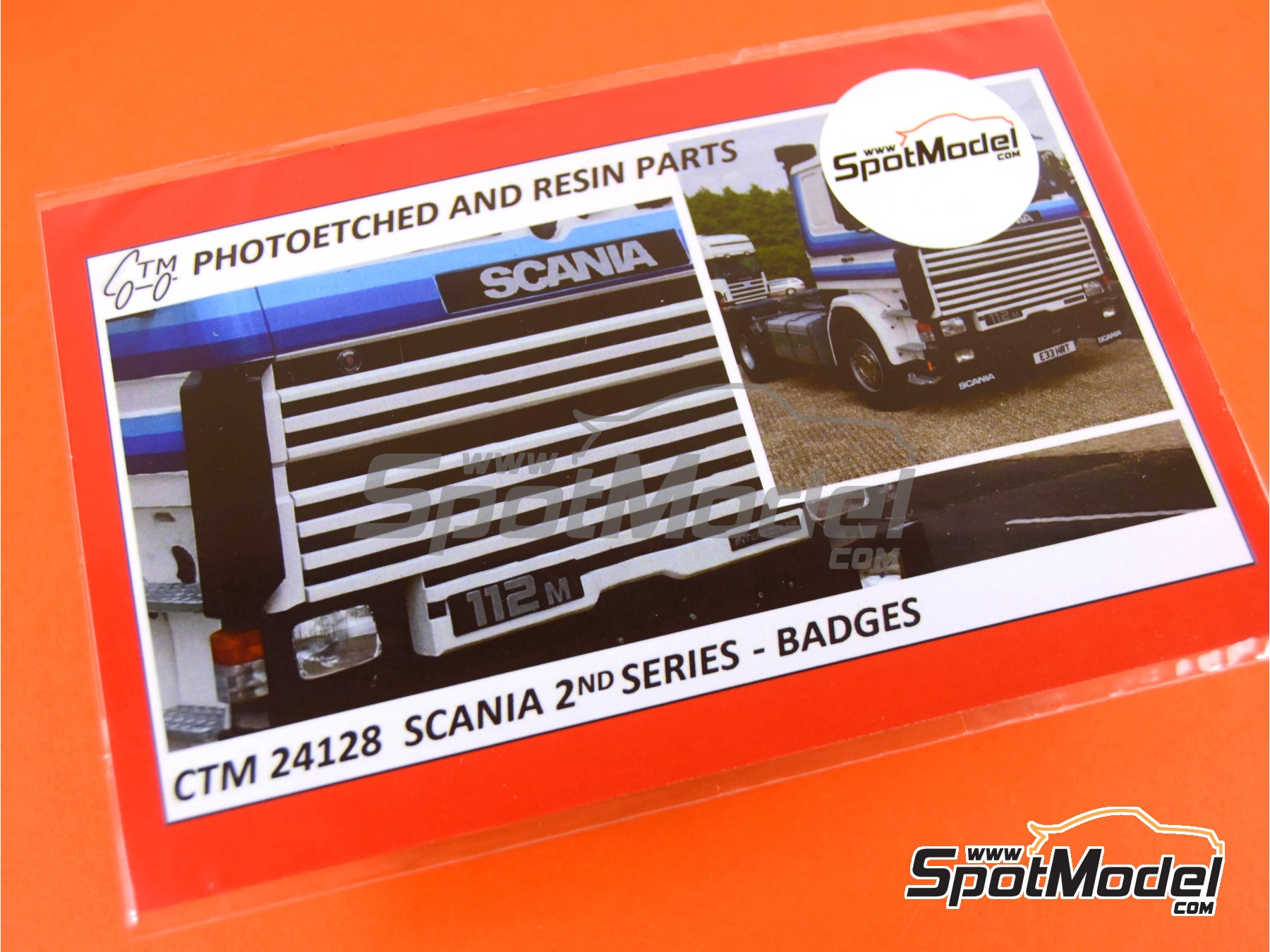 Image 1: Scania 2nd series | Badges in 1/24 scale manufactured by Czech Truck Model (ref. CTM24128)