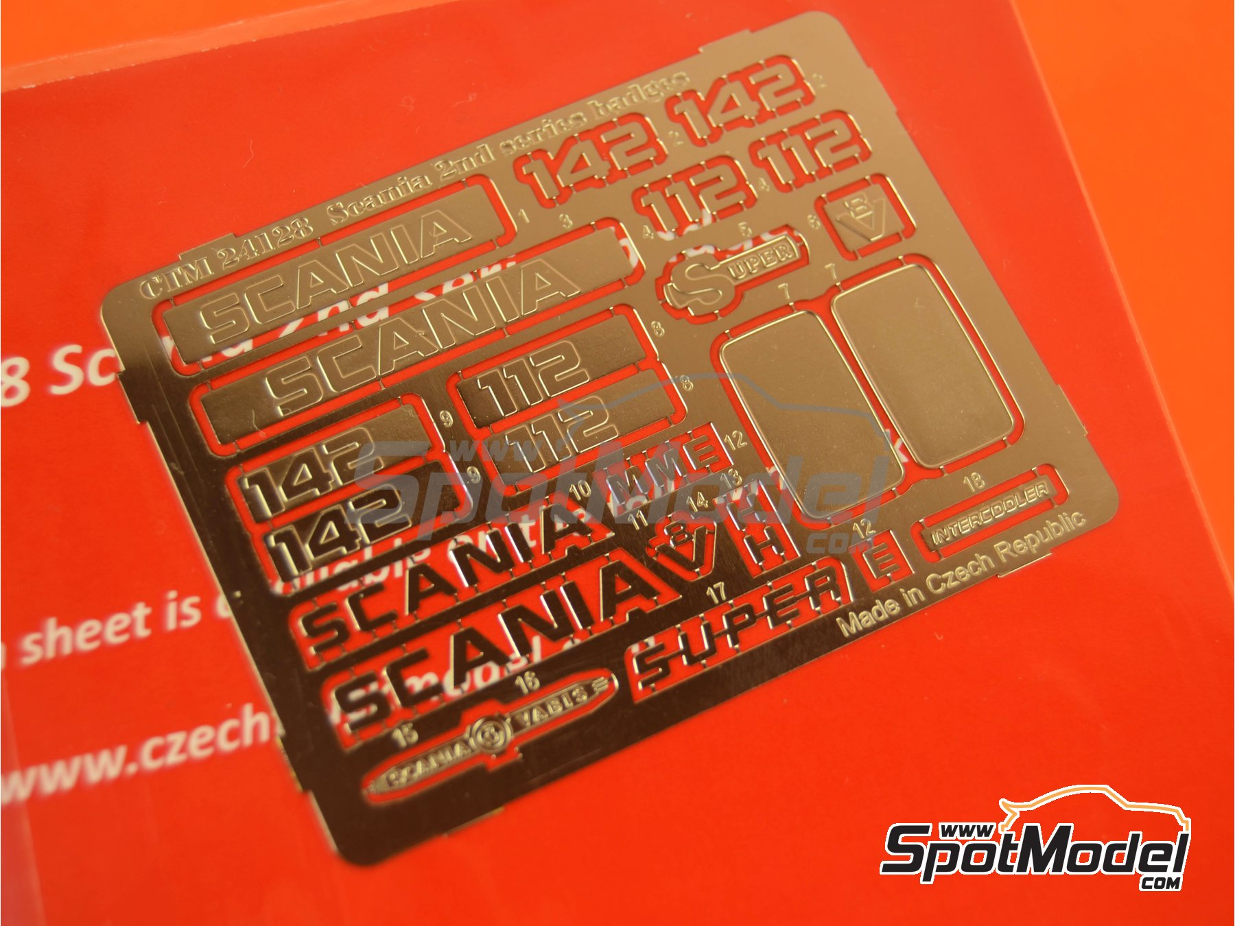 Image 3: Scania 2nd series | Badges in 1/24 scale manufactured by Czech Truck Model (ref.CTM24128)