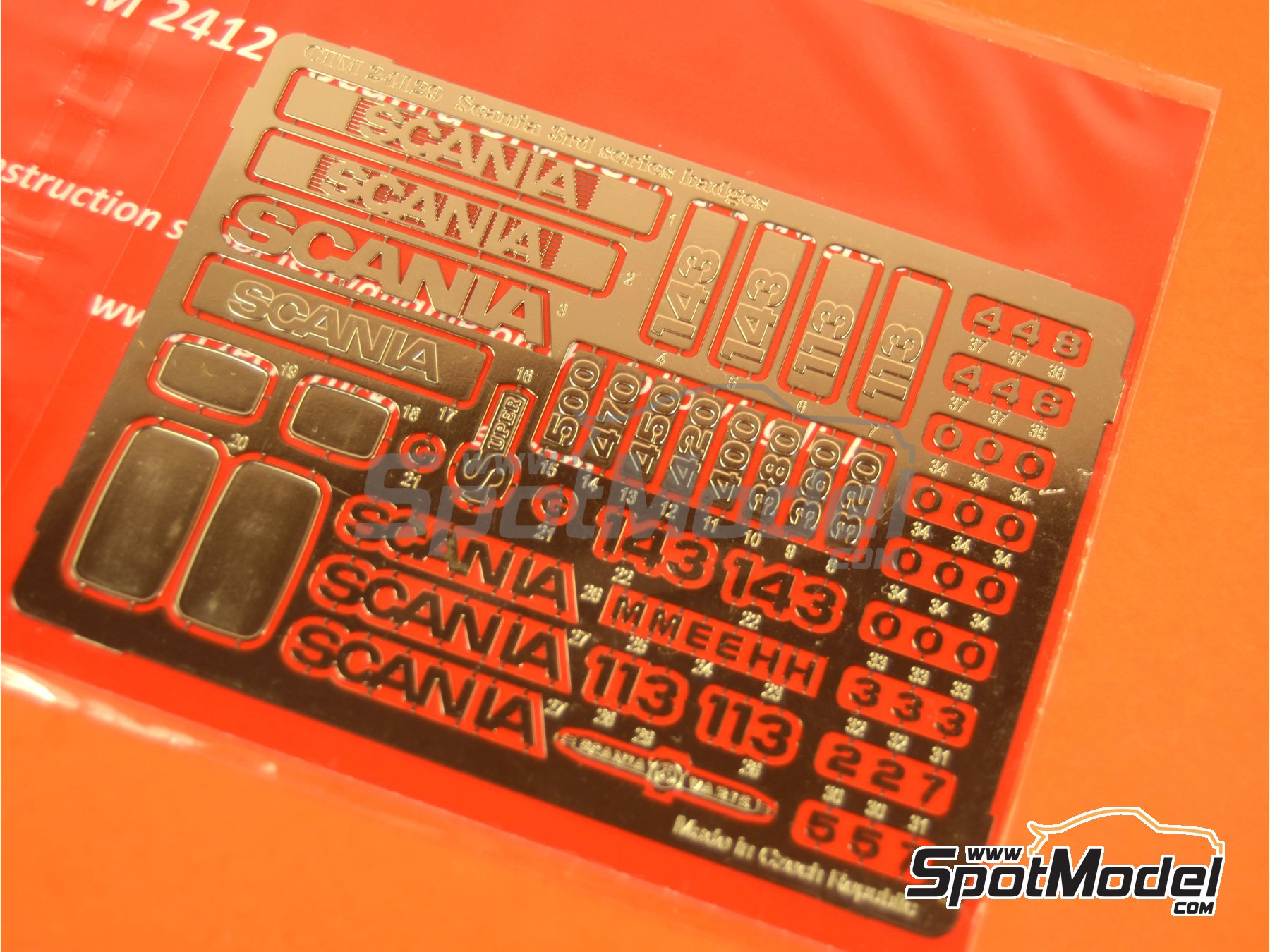 Image 3: Scania 3rd series | Badges in 1/24 scale manufactured by Czech Truck Model (ref. CTM24129)