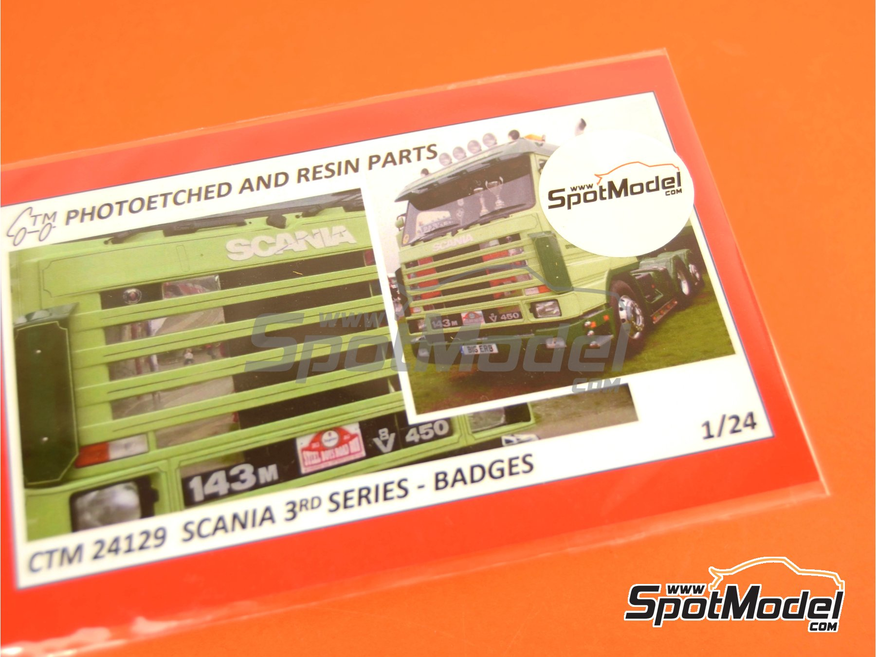 Image 4: Scania 3rd series | Badges in 1/24 scale manufactured by Czech Truck Model (ref. CTM24129)