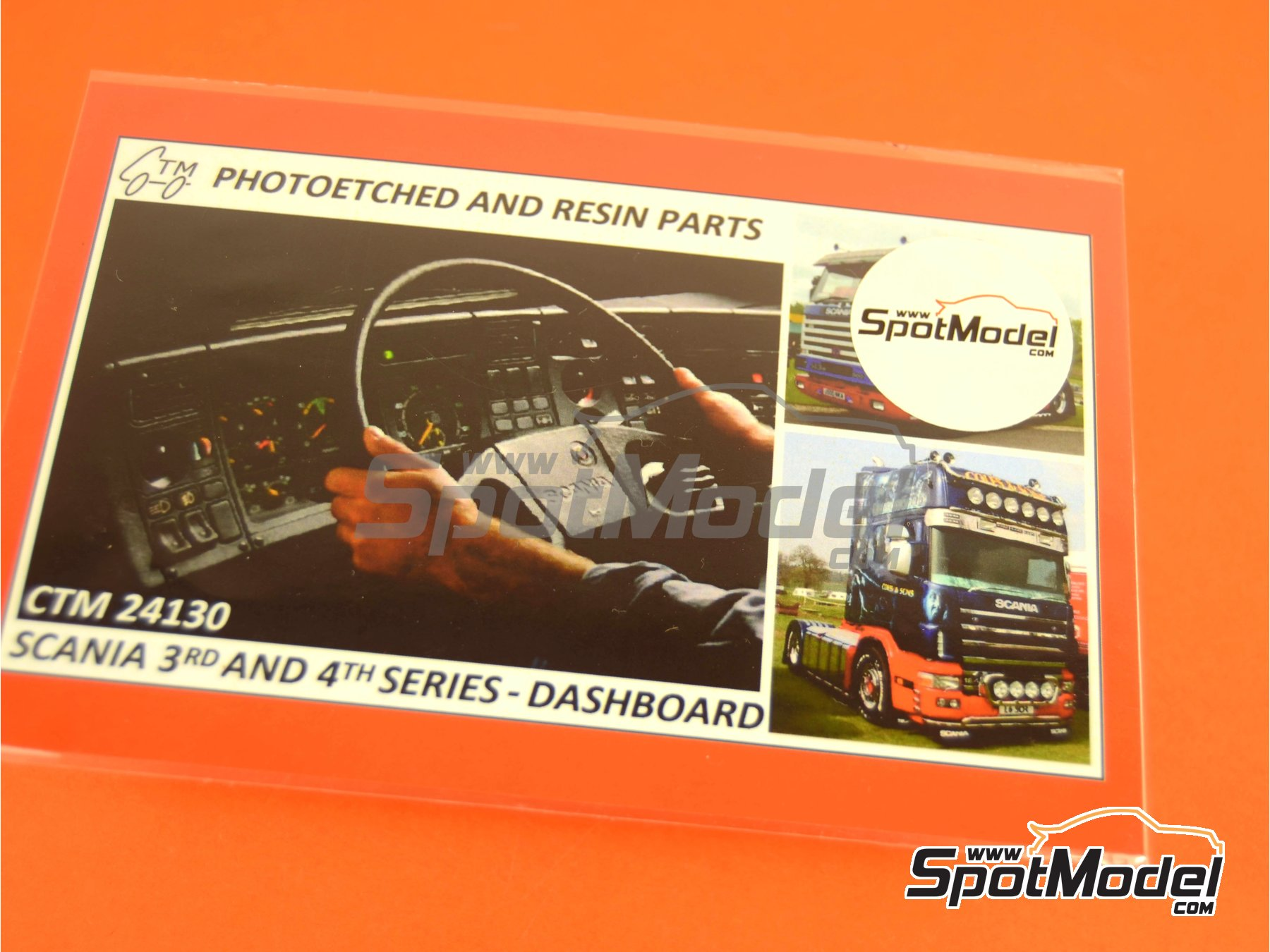 Image 3: Scania 3rd and 4th series | Dashboard in 1/24 scale manufactured by Czech Truck Model (ref. CTM24130)