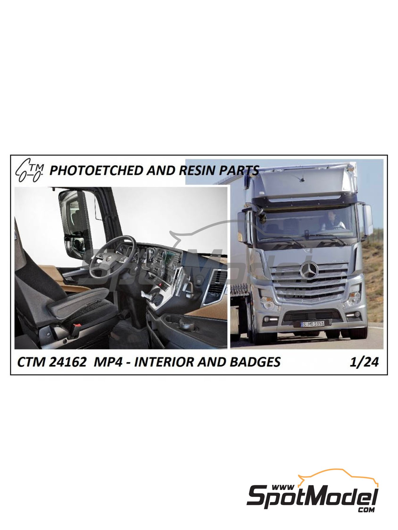 Mercedes Benz Actros Gigaspace MP4 | Set de mejora y detallado en escala1/24 fabricado por Czech Truck Model (ref.CTM24162) image