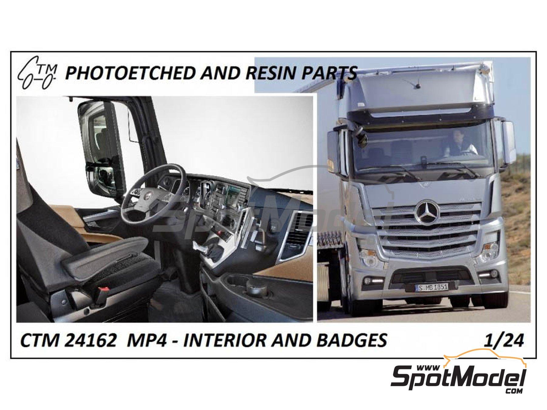 Image 1: Mercedes Benz Actros Gigaspace MP4 | Set de mejora y detallado en escala1/24 fabricado por Czech Truck Model (ref.CTM24162)