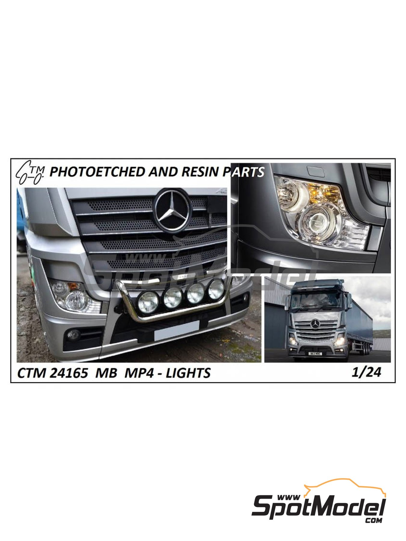 Mercedes Benz Actros Gigaspace MP4 | Lights in 1/24 scale manufactured by Czech Truck Model (ref. CTM24165) image