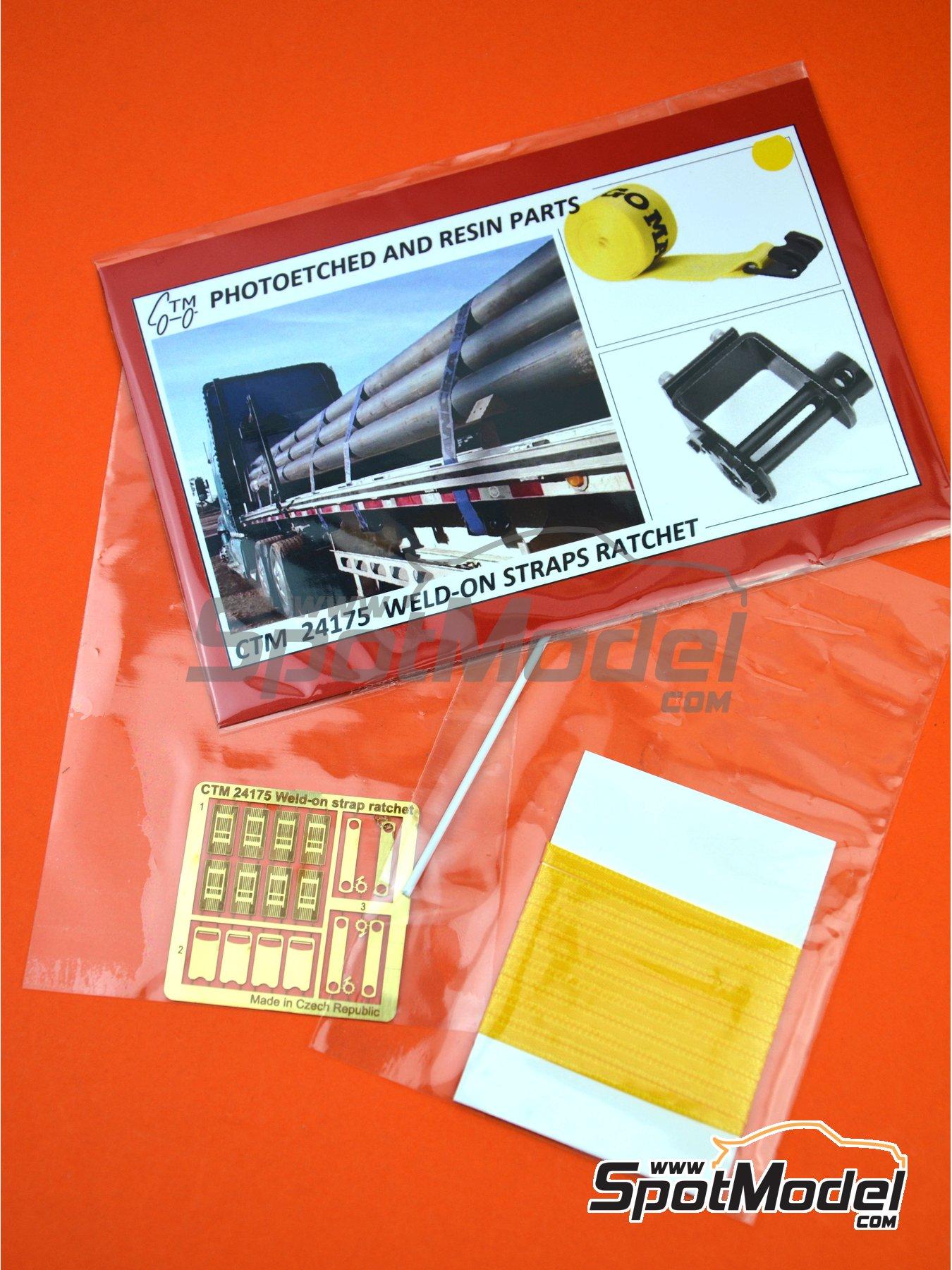 Correas de amarre de color amarillo con trinquete | Detalle en escala1/24 fabricado por Czech Truck Model (ref.CTM24175-B) image