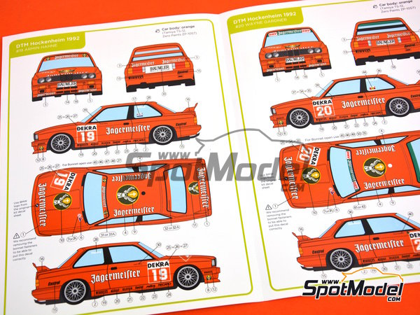 Image 2: BMW M3 E30 - DTM Hockenheim 1992 | Marking / livery in 1/24 scale manufactured by Decalcas (ref. DCL-DEC004)