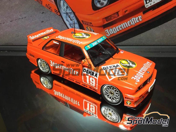 Image 6: BMW M3 E30 - DTM Hockenheim 1992 | Marking / livery in 1/24 scale manufactured by Decalcas (ref. DCL-DEC004)