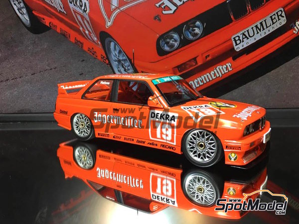 Image 7: BMW M3 E30 - DTM Hockenheim 1992 | Marking / livery in 1/24 scale manufactured by Decalcas (ref. DCL-DEC004)