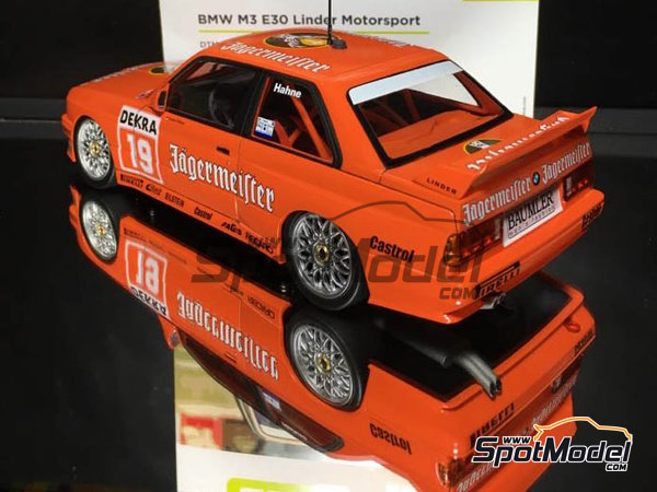 Image 8: BMW M3 E30 - DTM Hockenheim 1992 | Marking / livery in 1/24 scale manufactured by Decalcas (ref. DCL-DEC004)
