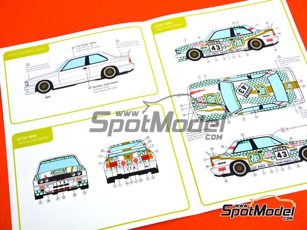 Image 9: BMW M3 E30 - DTM 1991 | Marking in 1/24 scale manufactured by Decalcas (ref. DCL-DEC005)