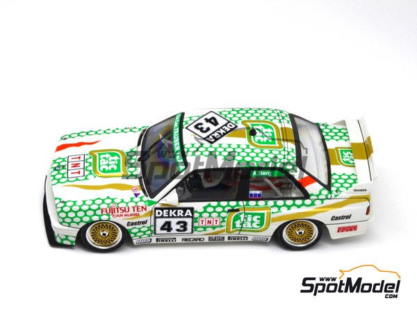 Image 14: BMW M3 E30 - DTM 1991 | Marking in 1/24 scale manufactured by Decalcas (ref. DCL-DEC005)