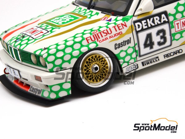 Image 15: BMW M3 E30 - DTM 1991 | Marking in 1/24 scale manufactured by Decalcas (ref. DCL-DEC005)