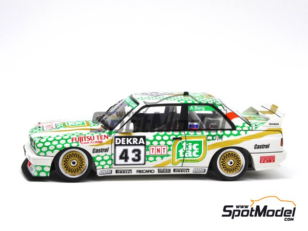 Image 17: BMW M3 E30 - DTM 1991 | Marking in 1/24 scale manufactured by Decalcas (ref. DCL-DEC005)