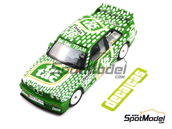 Image 1: BMW M3 E30 - DTM 1992 | Marking / livery in 1/24 scale manufactured by Decalcas (ref. DCL-DEC006)