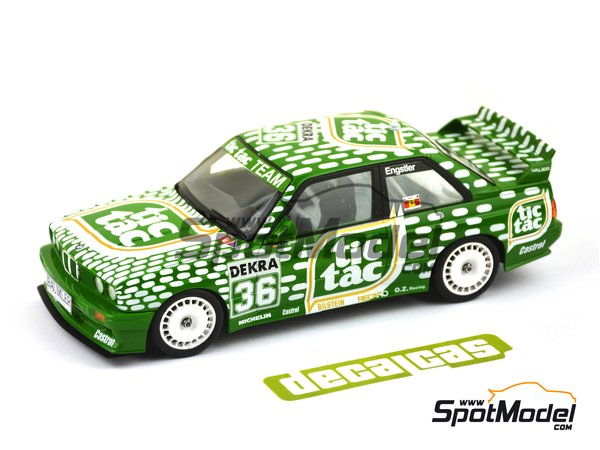 Image 3: BMW M3 E30 - DTM 1992 | Marking / livery in 1/24 scale manufactured by Decalcas (ref. DCL-DEC006)