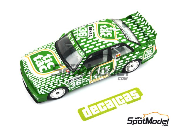 Image 4: BMW M3 E30 - DTM 1992 | Marking / livery in 1/24 scale manufactured by Decalcas (ref. DCL-DEC006)